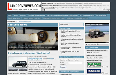 Land Rover Web
