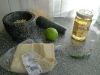 ingredienten-spaghetti-limoen-groene-peper-honing-pijnboompitten